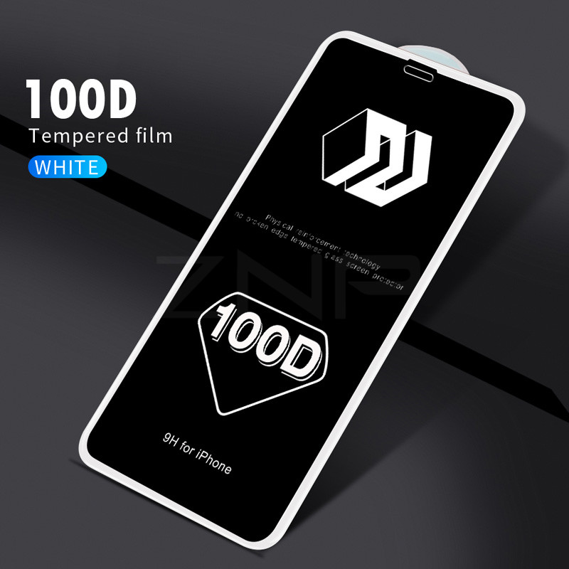 ZNP 100D Protective Glass for iPhone 7 Screen Protector iPhone 8 Xr Xs Xs Max Tempered Glass on iPhone X 6 6s 7 8 Plus Xs Glass