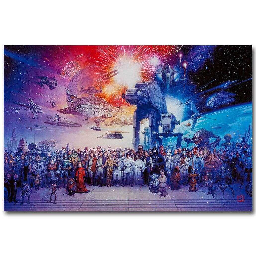 Skywalker Star Wars Episode 7 The Force Awakens Movie Silk Poster 13x20inch