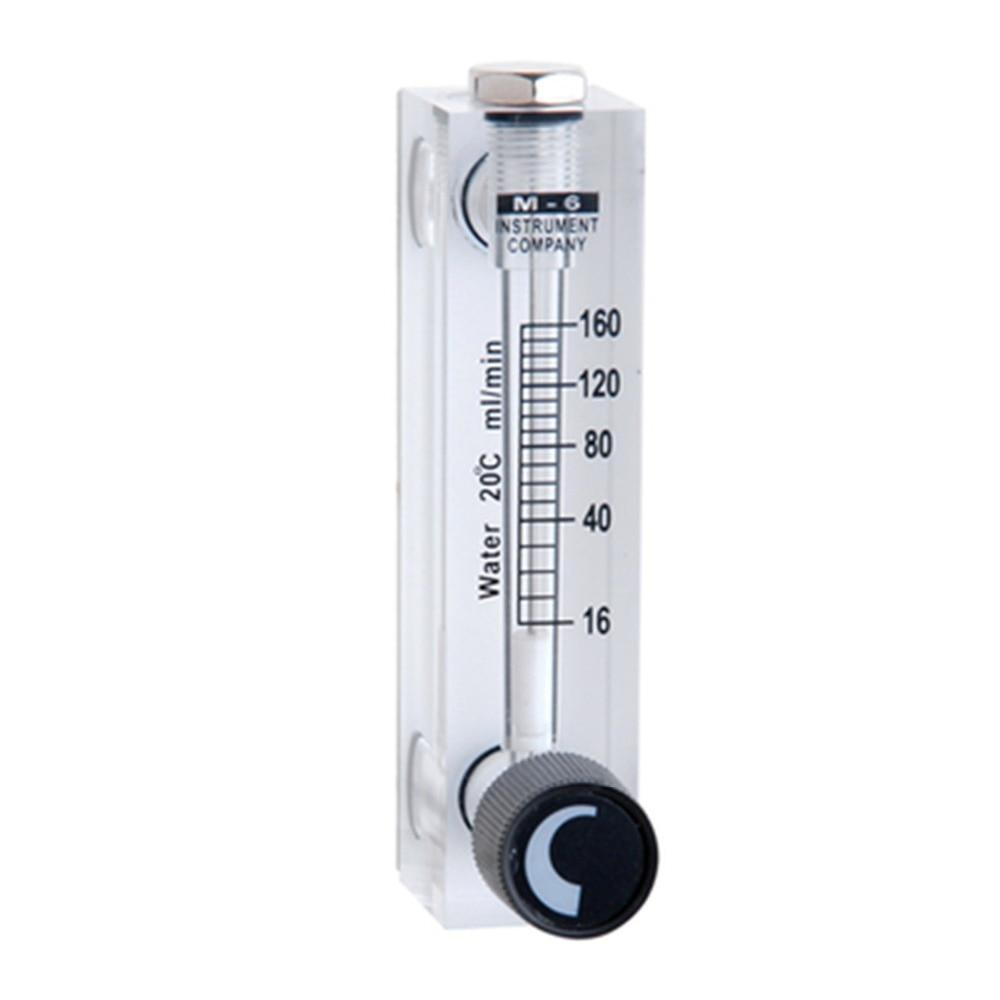 LZT-6T 16-160ml/min Square Panel Type Liquid Flowmeter Air Flow Meter rotameter LZT6T Tools Flow Measuring  lzt 6t 40 800ml min square panel type liquid flowmeter air flow meter rotameter lzt6t tools flow measuring