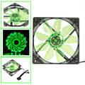 Binmer Bastante Verde 15 LED de Luz de 120mm DC 12 V 4Pin PC Caja de la Computadora de Enfriamiento Ventilador Fresco Mod de Julio 21