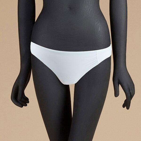 M& M 12 цветов, Раздельный купальник из двух частей, сексуальный купальник с низкой талией, женские одноцветные плавки, бразильские Плавки бикини - Цвет: Белый