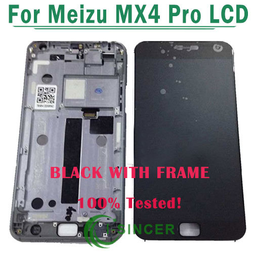 1/PCS For Meizu MX4 Pro LCD Display Touch Screen Digitizer Assembly with Frame Black,White Free Shipping