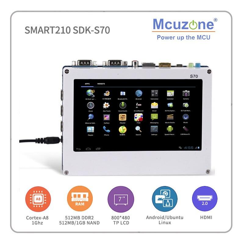 friendlyarm smart210 TINY210V2SDK S70 S5PV210 Cortex A8 Board with 7 800480 TFT LCD 512M DDR 512M