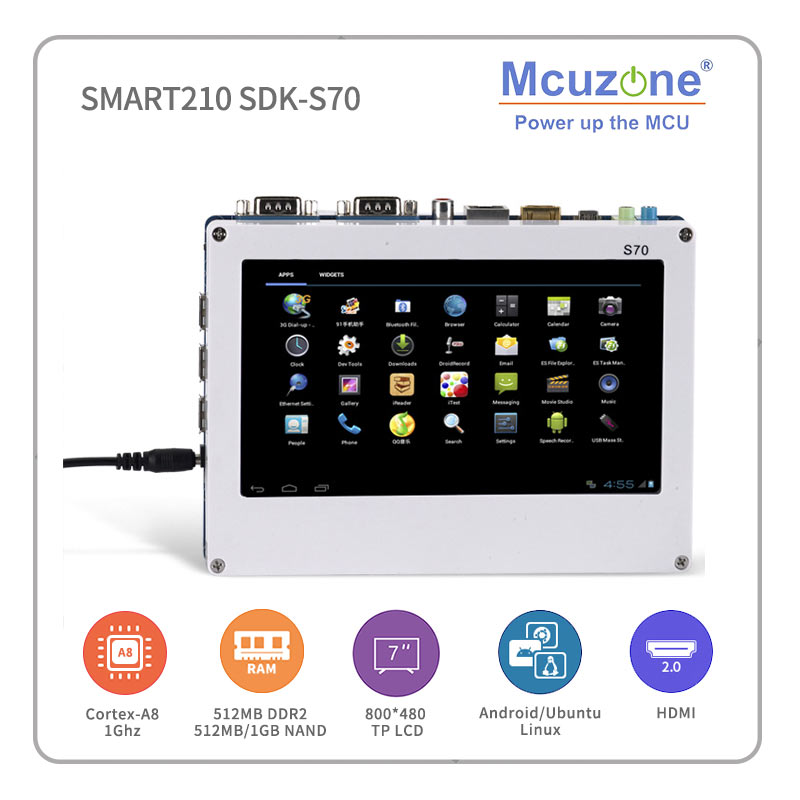 FriendlyELEC smart210/TINY210V2SDK S70 S5PV210 Cortex-A8 Bord mit 7