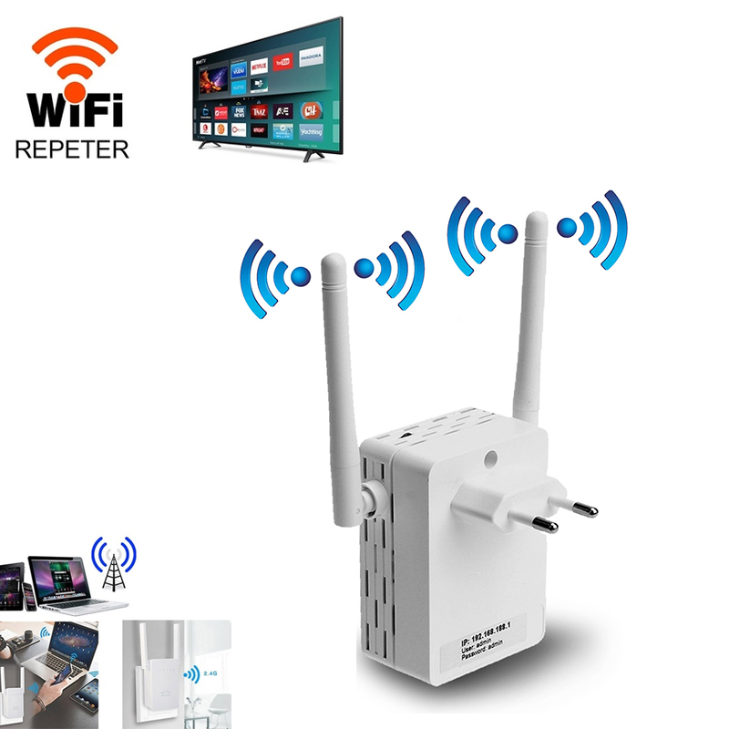 Wifi Expander 2.4G Wifi Repeater Expansion Wifi Extender 300M White