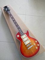 Custom Shop Ace frehley electric LP guitar 3 pickups tiger maple cover Mahogany body signature inlay lp custom guitar