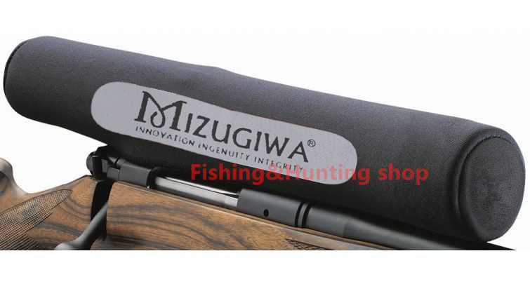 Mizugiwa Rifle Scope Cover Gun Rifle Hunting Accessories Riflescope Neoprene Protect Scope Cover bag Black Color caza