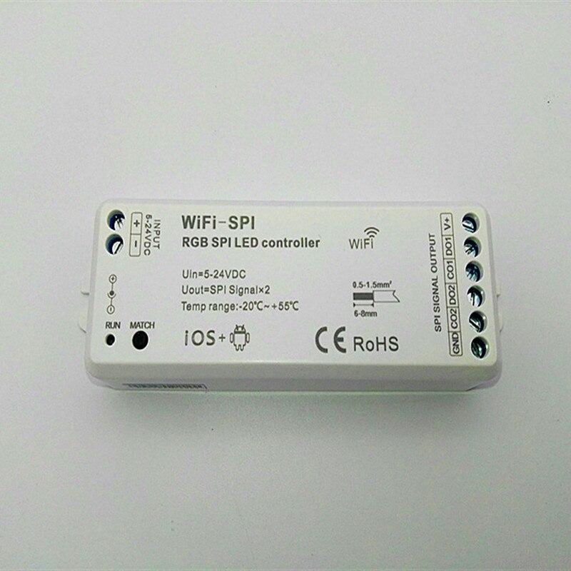 40 pcs DC5V 24V rgb spi wifi led 컨트롤러 지원 ws2811 ws2812b tm1812 lpd6803 ws2801 ucs1903 tls3001 ic led 픽셀 스트립 테이프|RGB 컨트롤러|   -