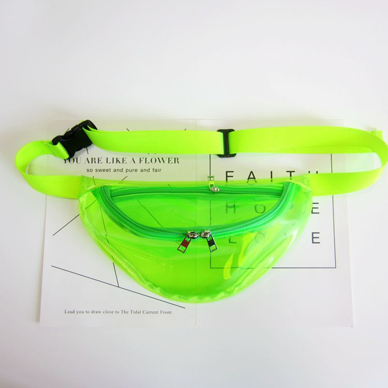 LXFZQ Fanny Pack Laser Transparent Waist Bag Hologram
