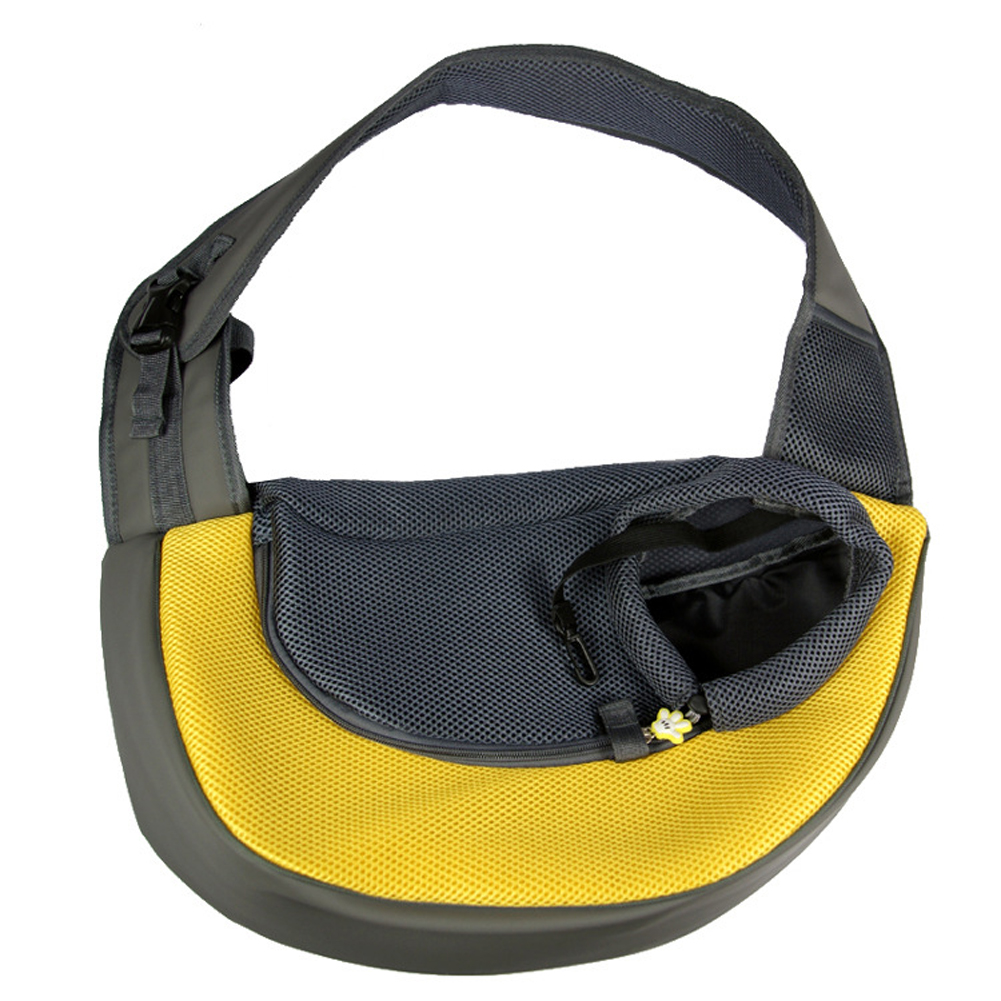 Pet Dog Cat Puppy Carry Travel Tote Shoulder Bag Purse Sling yellow S