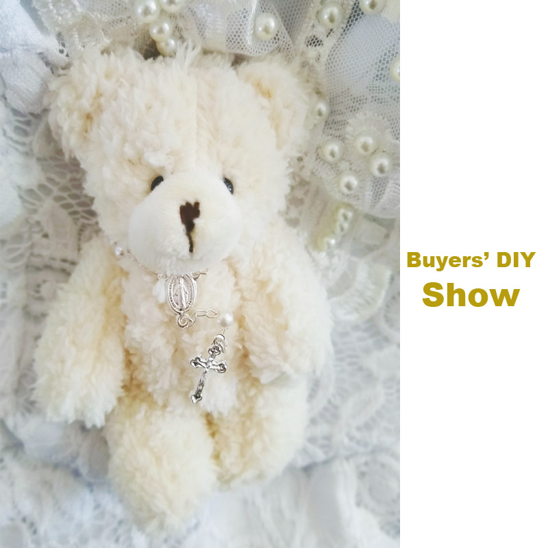 Image 2 - 50pcs/lot Mini Joint Teddy Bear plush toys chain white gummy bears 12cm animal for Wedding peluches bicho ursinho de pelucia-in Stuffed & Plush Animals from Toys & Hobbies