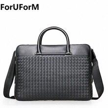 ForUForM Handtasche Männer Leder Aktentaschen Anwalt Umhängetaschen Echtem Leder Männlichen Messenger Bags Handtaschen Männer Büro tasche LI-1943