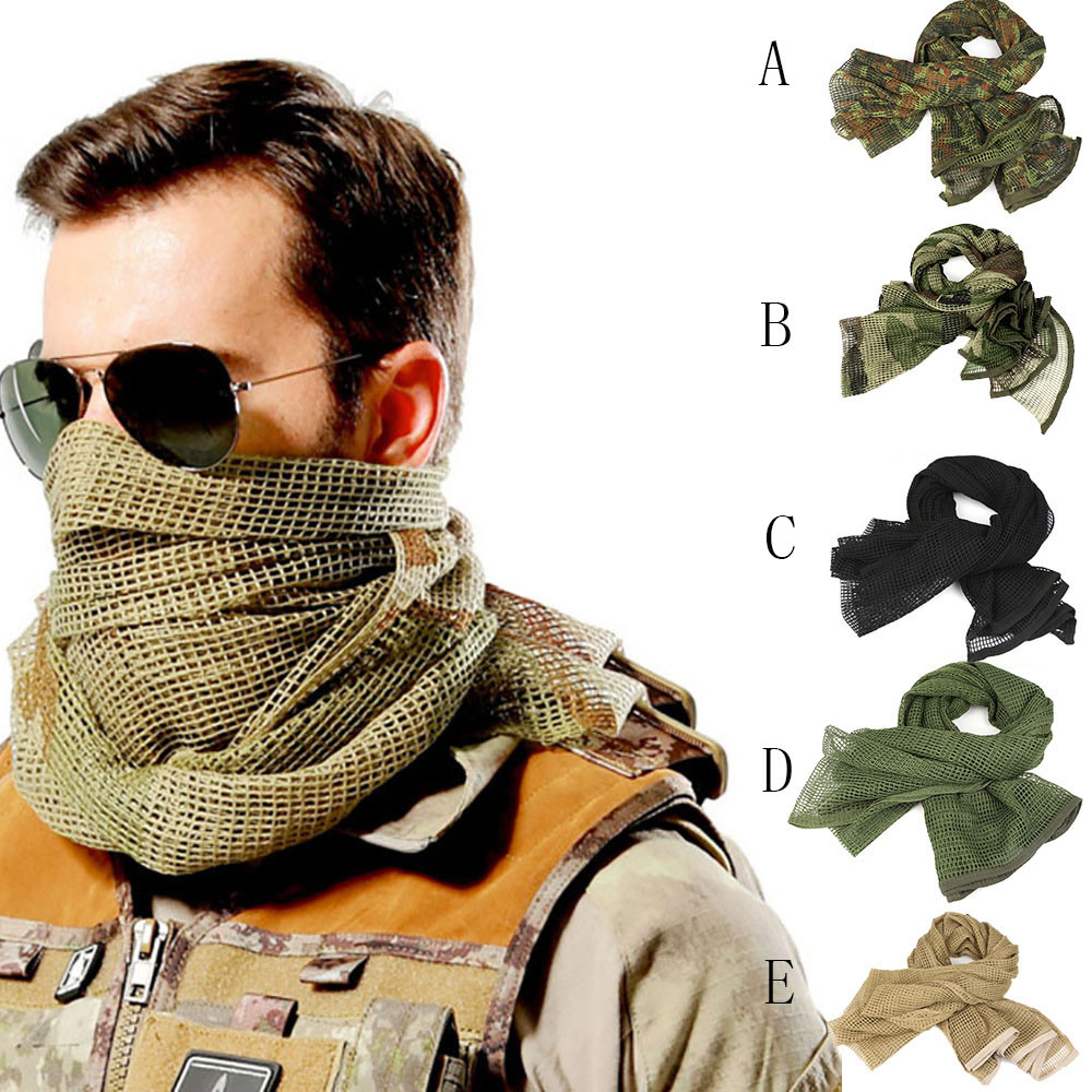 Cloth Scarf Shawl Keffiyeh-Net Desert Arab Army Military Tactical FASHION Men Y91830