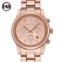 2018 Hannah Martin ladies watch Geneva style famous brand fashion gold watch luxury ladies quartz watch