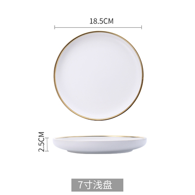 7 inch white plate