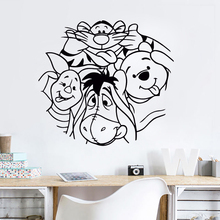 Cartoon Vinyl Sticker Babys Bedroom Wall Decal Winnie The Pooh Mural Removable Kids Decor AY0199