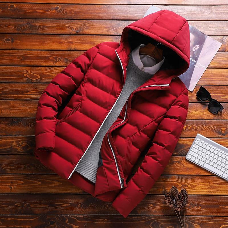 MYAZHOU 2019 Spring Men's Casual Hooded   Parkas   , Big Size Cotton Jacket Winter Short Warm Fashion Cotton Coat Men's Jacket Tide