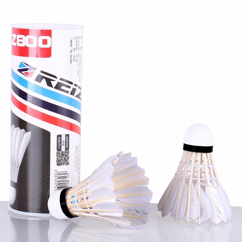 3PCS/Tube Shuttlecocks Badminton White Feather Shuttlecocks Professional Competition and Game Badminton Accessories Z800