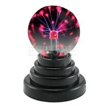 New USB Magic Black Base Glass Plasma Ball Sphere Lightning Lamp Light Party