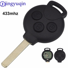 jingyuqin Remote Key Case Cover Keyless Entry Fob 3 Buttons For MERCEDES BENZ Smart Fortwo 434MHZ Remote Car Key