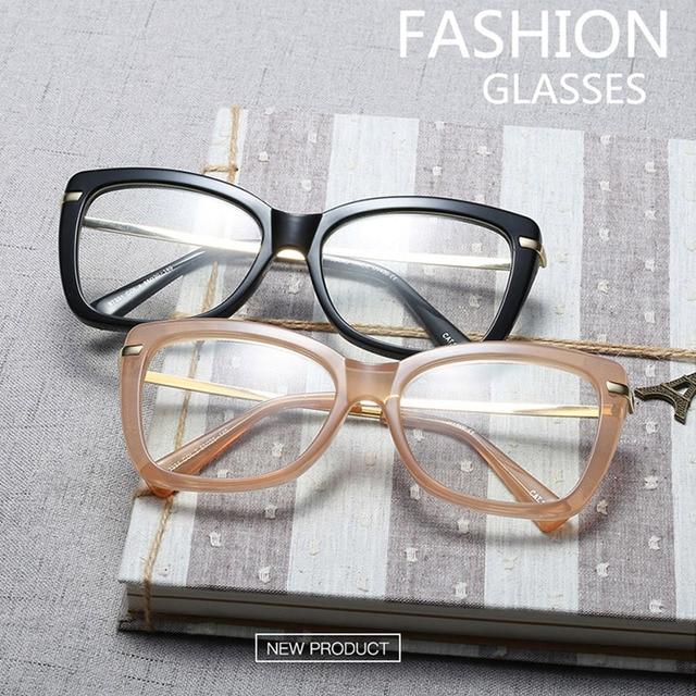 Women Metal Legs Designer Optical Eyeglasses Prescription Acetate Rim Spectacles for Women Eyewear Glasses Frame Fashion Styles 1