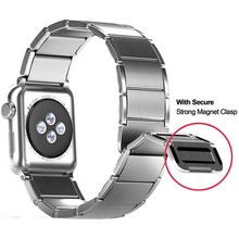 Newest 38mm-42mm Wrist Strap For Apple Watch 4 Stainless Steel Magnetic Clasp Watch Band For Apple Series 1 2 3 iWatch Watchband 42mm 38mm for apple watch s3 series 3
