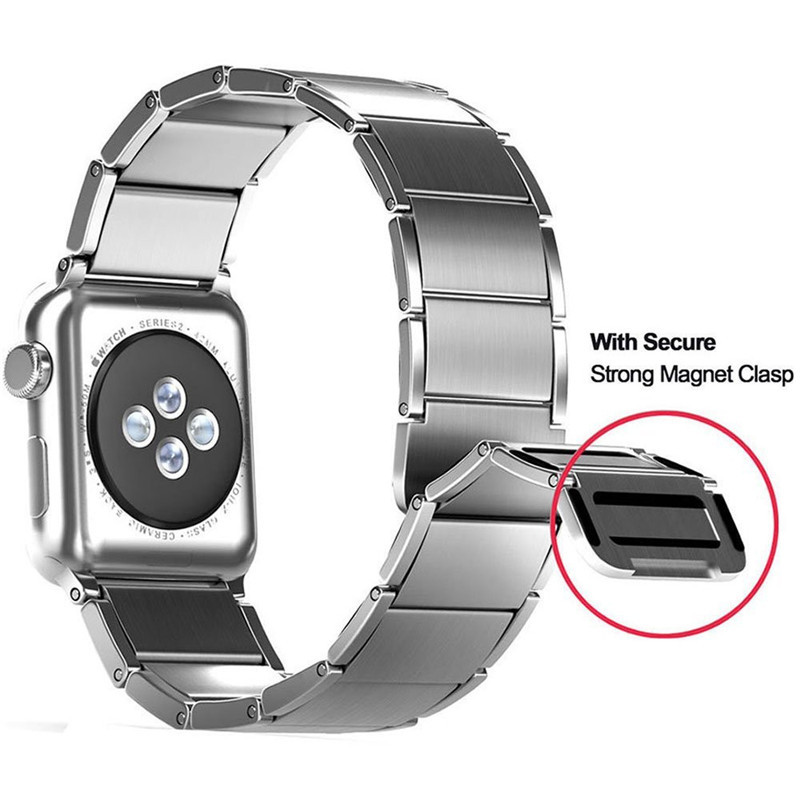 Newest Wrist Strap For Apple Watch 4 44mm Stainless Steel Magnetic Clasp Watch Band For Apple Series 1 2 3 Watchband 42mm
