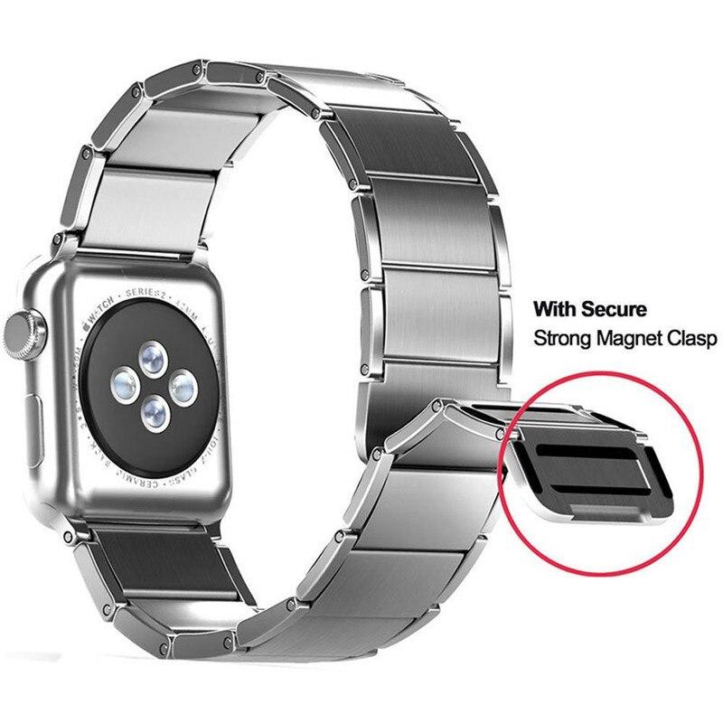 Più nuovo 38mm-42mm Cinturino Da Polso Per Apple Orologio 4 In Acciaio Inox Chiusura Magnetica Watch Band Per Apple serie 1 2 3 iWatch Cinturino