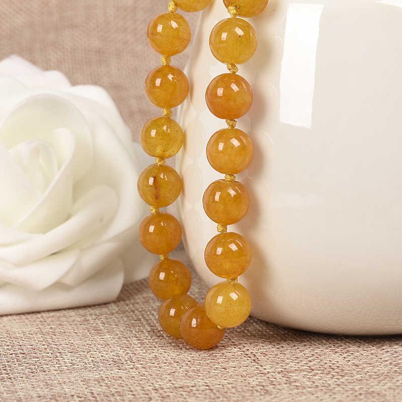 Piękne 10mm jasny żółty i długi pasek Topaz jasper. Podwójne jedenaście prezenty dla rodziny i przyjaciół
