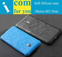 3D Carved Dragon Protector Shell Cover For Meizu M2 Note Soft Silicon Rubber Case Capa For