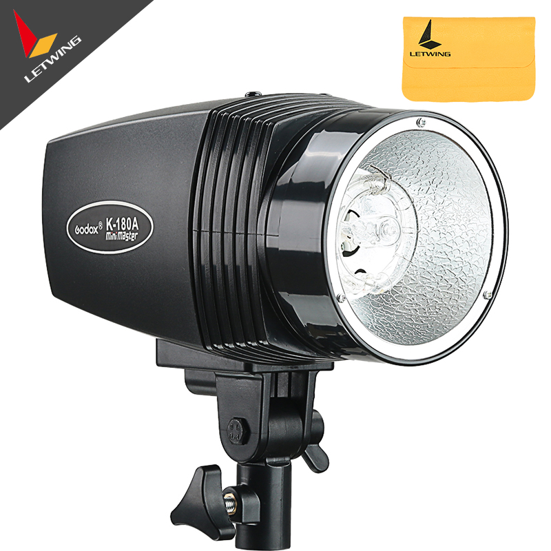 Godox K-180A 180Ws 180W Photo Studio Strobe Flash Light Lamp Head 220V only Free shipping letspro ge 180 180w 5500k studio light black ac180 220v