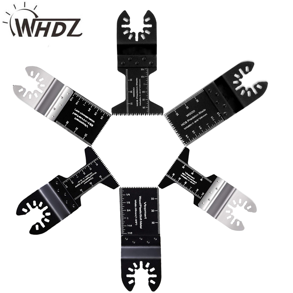 WHDZ 2pcs Universal Bi-metal Precission Multitools Saw Blade Oscillating Multi Tools Electric Function Tool Parts Power Tool