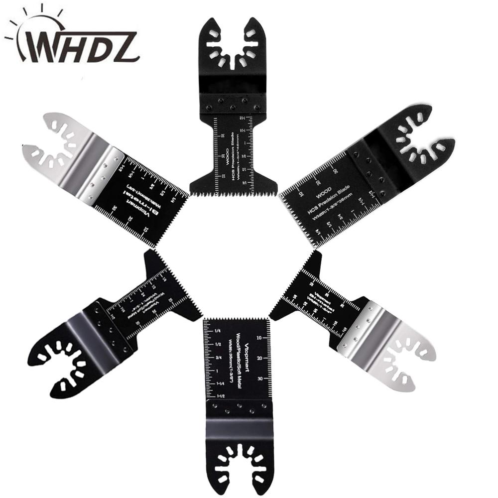 WHDZ 2pcs Universal Bi-metal Precission Multitools Saw Blade Oscillating Multi Tools Electric Function Tool Parts Power Tool