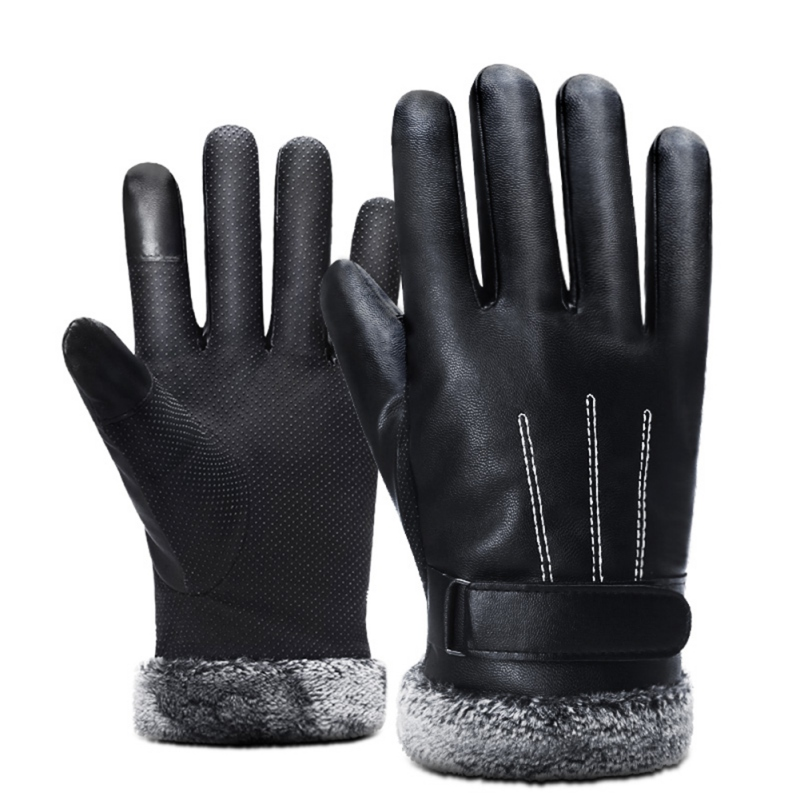 Men Touch Screen Warm Cycling motorcycle Thicken Velvet Gloves