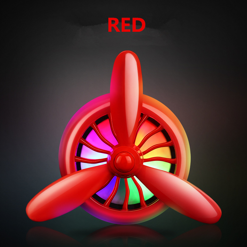 1 Piece Car Styling Air Vent Outlet Perfume LED Colorful Light Rotating Leaves Recyclable Air freshener Air Conditioner in Air Freshener from Automobiles Motorcycles