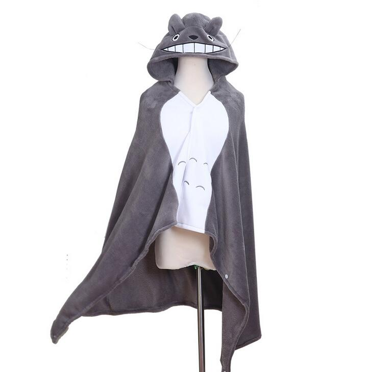 New Totoro Lovely Plush Soft Cloak Totoro Cape Cat Cartoon Cloak Coral Fleece Air Blankets Birthday Valentine Gifts cloak dreimaster cloak page 7