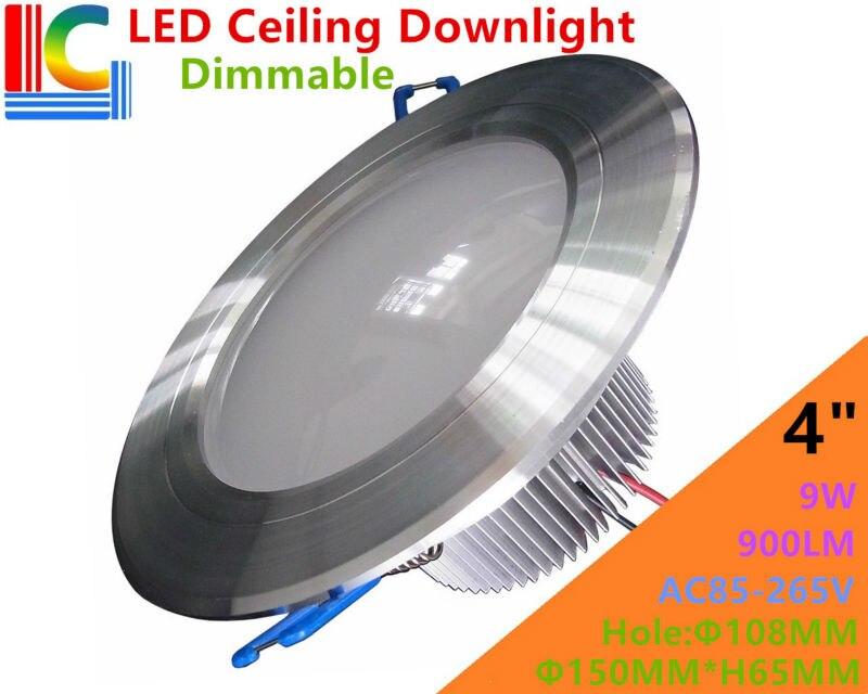 4in. 9 Вт dimmable потолочные Светильники AC85-265V Ультра-яркий встраиваемые сетки Светильники центр лампы CE 110 В 220 В Освещение в помещении