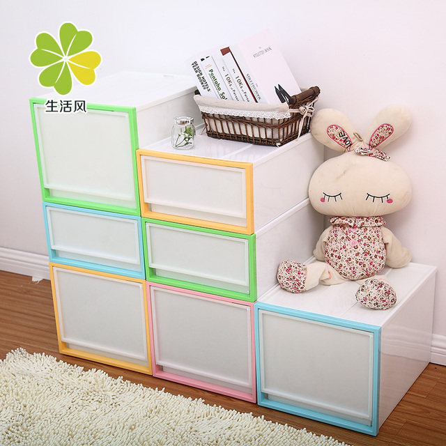 Drawer storage cabinet clothes storage cabinet baby dual-order box baby storage box plastic thickening  sc 1 st  AliExpress.com & Drawer storage cabinet clothes storage cabinet baby dual order box ...