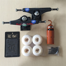 2016 Pro Skateboard Parts Royal Aluminum 5.25″ Skate Truck Diamond PU Skate Wheels Toy Machine Skateboard ABEC-5 Bearings