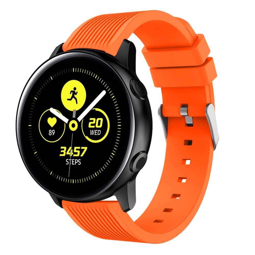 20mm silicone esporte relógio banda pulseira de substituição para samsung galaxy assistir engrenagem ativa s2 clássico esporte correa amazfit pulseira