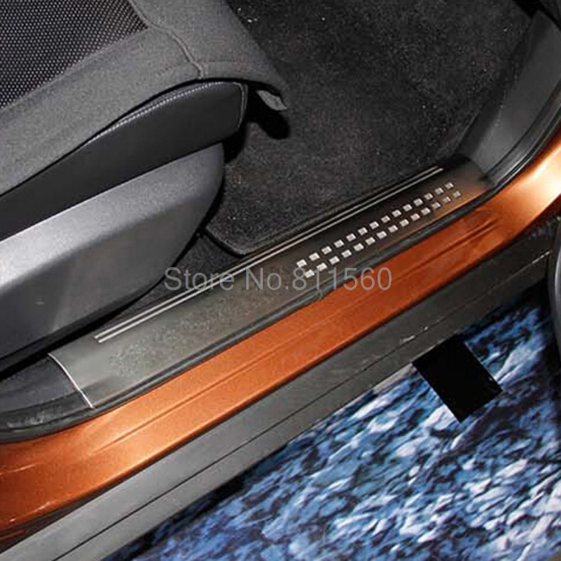 For Nissan X-Trail 2014 2015 Stainless Steel Inner Door Sills Scuff Plate Thresholds Pad Tread Plates Welcome Pedal 4pcs/set & Door Threshold Protection Promotion-Shop for Promotional Door ... Pezcame.Com