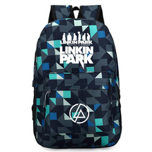 57247a35a4aa 2018 Rock Music Band Linkin Park Printing Backpack Galaxy Trave Bags Canvas  School Bags Rugzak Linkin