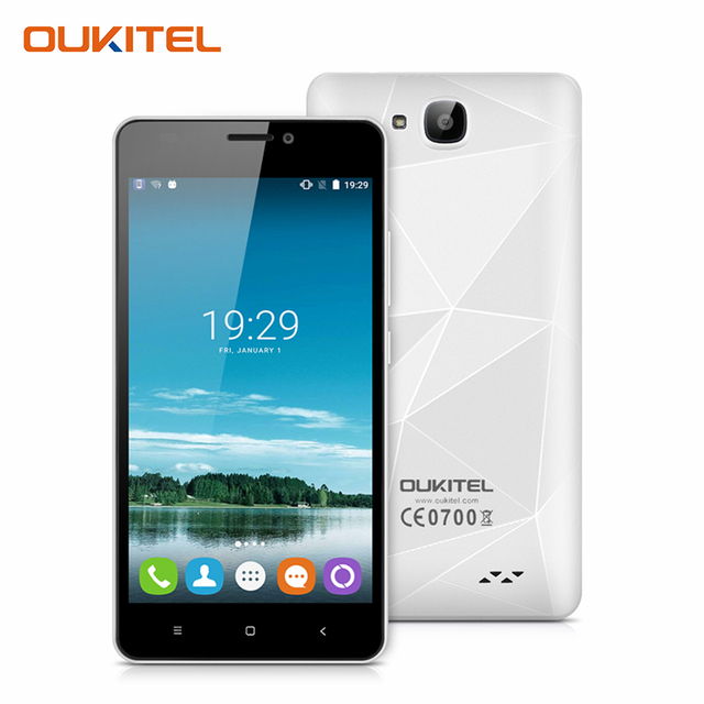"Oukitel C3 5.0"" HD Screen Cellphone Android 6.0 MTK6580 Quad Core Smartphone Diamond Design 3G WCDMA 1G RAM 8G ROM Mobile Phone"
