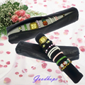 Water Resistant Black Color PU Leather Watch Bracelet Travel Storage Roll Bag Pillow Bar Jewelry Carrying Case Organizer Holder