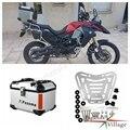 Moto Moto Argento Posteriore In Alluminio Top Box Caso Passeggero Bagaglio Box Universale per Honda Harley BMW Triumph