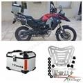 Motorfietsen Moto Zilver Aluminium Achter Doos Top Case Passenger Bagage Box Universele voor Honda Harley BMW Triumph