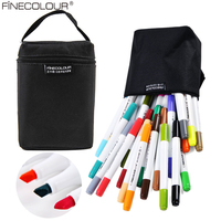 Finecolour манга Маркер ручки с красками наборы для ухода за кожей рисунок маркеры для эскизов тонкой лайнер аниме архитектура Professional книги по и...