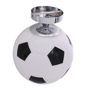 Image 3 - Glass Footaball Soccer Ceiling Lamp Flush Mount Pendant Light Shade Chandelier Fitting LED Bulb/Energy Saving Lamp/Incandescent