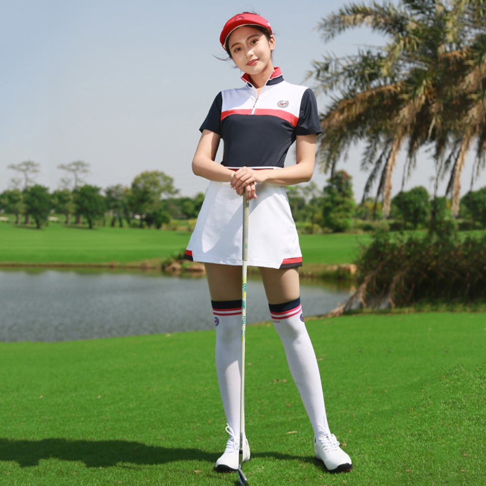 PGM Golf Women Summer Clothing Set Female Apparel Quick Dry Sports Wear Skirts Set Ladies Sport Golf/Tennis Clothes Set