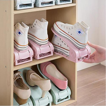 5 PCS Adjustable Double Layer Shoe Organizer Rack Closet Space Save Cleaning Plastic Hanger Shelf